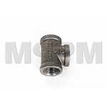 Terex Advance Fitting,Tee,Black Sched 40,1
