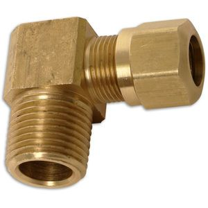 1/2 Air Brake x 1/2 Male Pipe 90 degree - DOT Male Elbow - Brass