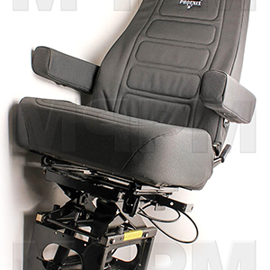 Bostrom 9525-7809L High Back Grey Cloth Sierra Airride 140HBRX Seat with Armrests
