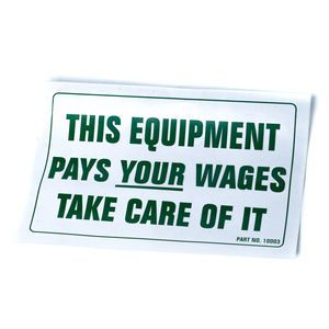 Terex 10003 Equipment Pays Decal