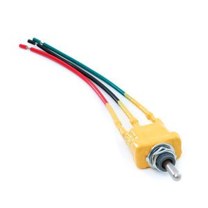 CBMW Control On/Off/On Momentary Yellow Dipped Toggle Switch with Pigtails
