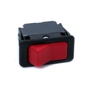 McNeilus 1145139 Red Rocker Switch Drum Start Stop with 3 Spade Terminals