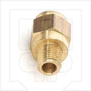 Brennan PCDT2404 Brass Push-To-Connect Fitting
