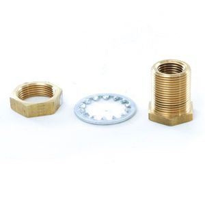 Indiana Phoenix 10565 .5in NPT Brass Bulkhead Pipe Fitting