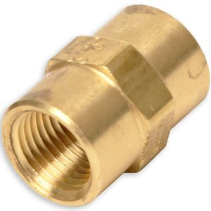 1/8 Female Pipe x 1/8 Female Pipe - Pipe Coupling - Brass