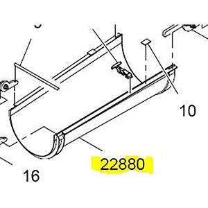 Terex Advance Weldment,#3 Paver Hydraulic Flip Chute
