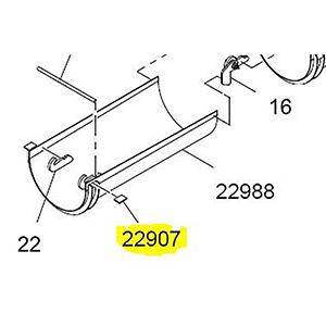 Terex Advance Rest,#4 Section Manual Flip Chute