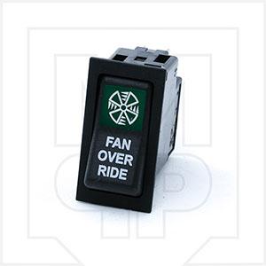 CVS Green 2 Position Rocker Switch 832-0206-004 - Fan Override