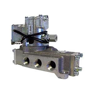 Schrader Bellows Single Solenoid Electric Over Air Valve with Sub-Base