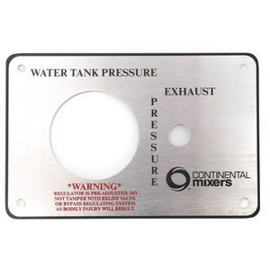 Continental 90120011 Water Tank 3-Way Valve Box Plate - 8.25x5.25