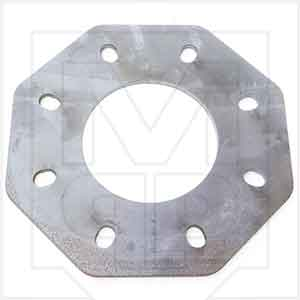 Cement Silo Flat Straight Flange for 6 inch Bray Butterfly Valve