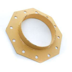 Cement Silo Boot Flange with Shroud Ring for 12 inch Bray Butterfly Valve