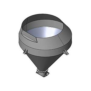 Johnson Ross Tilt Mixer Concrete Loading Hopper Assembly - 44-407-17001 Gob Hopper