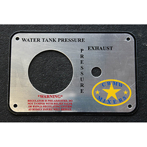 CBMW Water Tank 3-Way Valve Box Plate-6 X 4