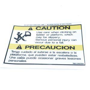 780215058 Caution Slippery Ladder Decal Sticker