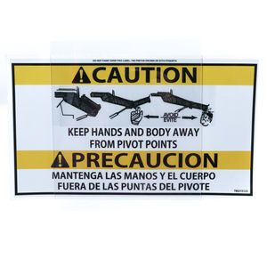 McNeilus 0215123 Large Keep Hands Away from Chute Pivot Points Decal Sticker Aftermarket Replacement