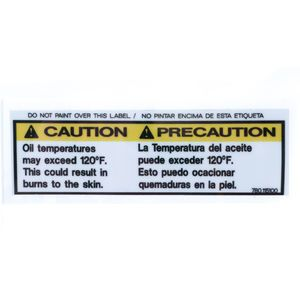 780115100 Oil Temperature Caution Decal Sticker