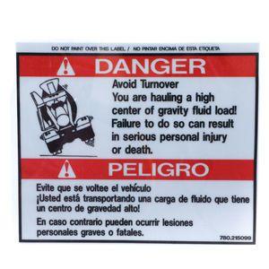 McNeilus 0215099 Avoid Turnover Danger Decal Sticker