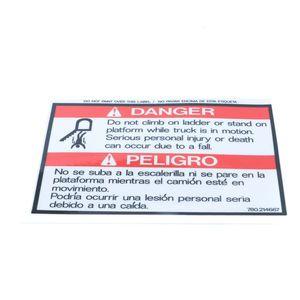 780214667 Do Not Climb on Ladder Platform Danger Decal Decal Sticker