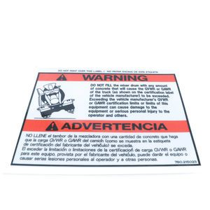 780215023 Do Not Fill Warning Decal Sticker