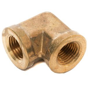 Brass Female 90 Degree Elbow Pipe Fitting 1/8 x 1/8