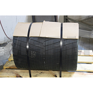 Conveyor 20x26 Drum Roller Pulley - 3-8in Herringbone Lagging, Crown Faced for XT30 Bushings