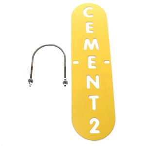 Coneco 0143623-2 Silo Cement 2 Metal Sign for Cement Fill Pipes