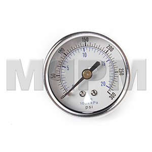Air Gauge-2 inch Face 0-300 PSI 1/4 inch Back Mount