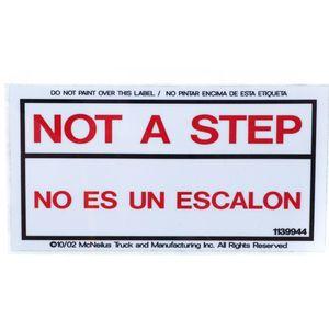 McNeilus 1139944 Decal Sticker - Not a Step