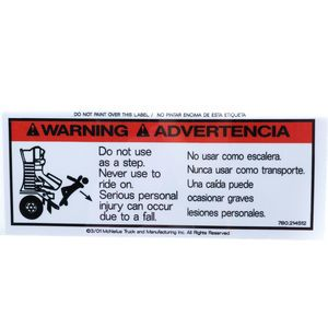 McNeilus 214512 Decal Sticker - Warning - Do Not Use As A Step. Aftermarket Replacement