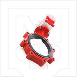 8in Bray Plant Butterfly Valve and Actuator Assembly - Lug Style For Cement