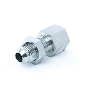 2705LN0608 Female Bulkhead Connector with Locknut - Steel
