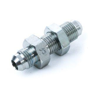 2700LN-06-06 Bulkhead Fitting with Locknut - MJ x BH MJ Steel