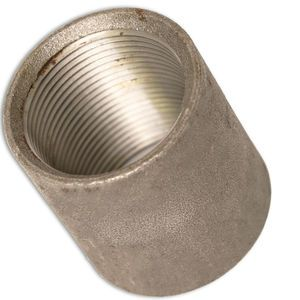 1-1/4in x 1-1/4in Threaded Carbon Steel Weld Straight Coupling for Bin Level Indicators