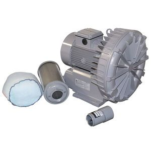 Concrete Plant Aeration Blower Assembly with Relief Valve and Filter