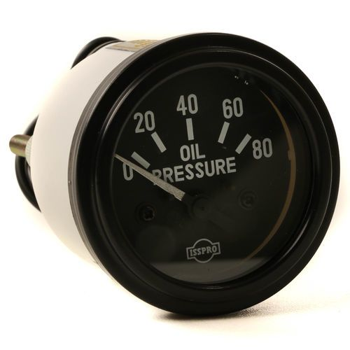 Datcon 108967 Oil Pressure Gauge - Black Face