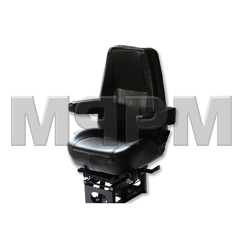 Bostrom 2339176-545 Mid Back Brown Vinyl Seat with Dual Armrests - T915