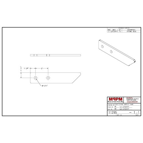 Terex 11295 Rear Fender Support Plate | 11295