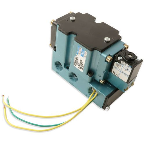 Mac 6511B-211-PM-111DA Single Solenoid Valve with Stand Alone Base - 1/2in Ports