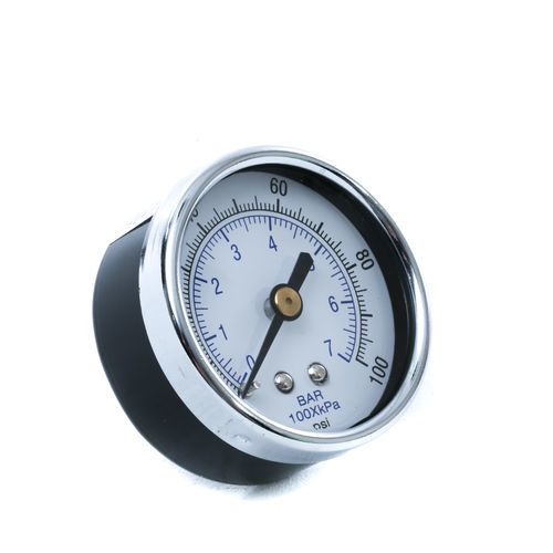CBMW Air Gauge-2 inch Face 0-100 PSI 1/4 inch Center Back Mount | 10100147
