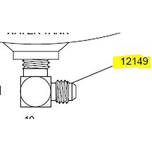 Terex Advance Fitting,90Deg M El,Jic,1