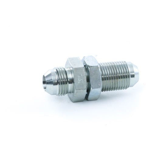 Terex 12192 1/2in Male JIC x 1/2in Male JIC Bulkhead Fitting with Lock Nut | 12192