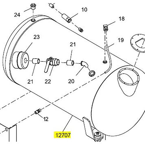 Terex 12707 Dual Fill Aluminum Water Tank | 12707