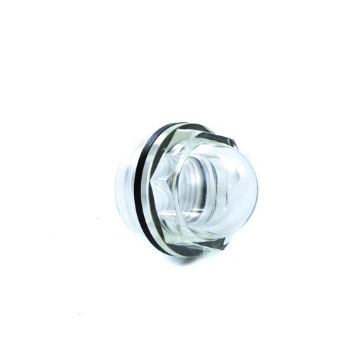 Clear Plastic Sight Glass Fitting For Radiator Surge Tanks And Hydraulic Oil Reservoirs
