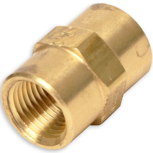1/8 Female Pipe x 1/8 Female Pipe - Pipe Coupling - Brass | 33000202
