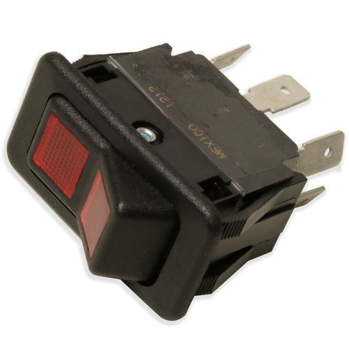 McNeilus Rocker Rocker Switch - On Off with 2 Red Lens