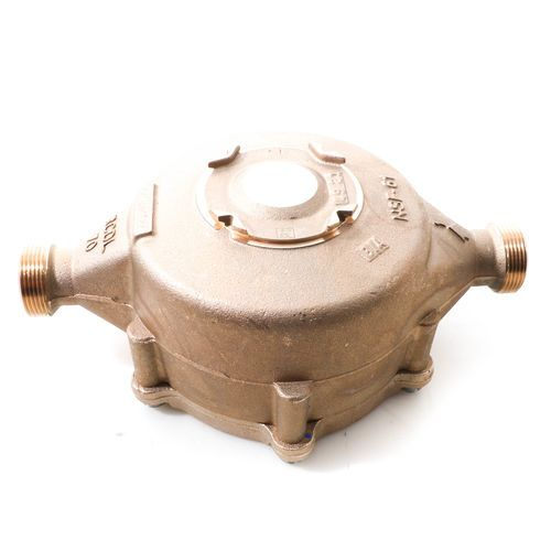 Badger Meter 255121 Recordall Model 70 Cold Water Bronze Disc Meter - 1 inch