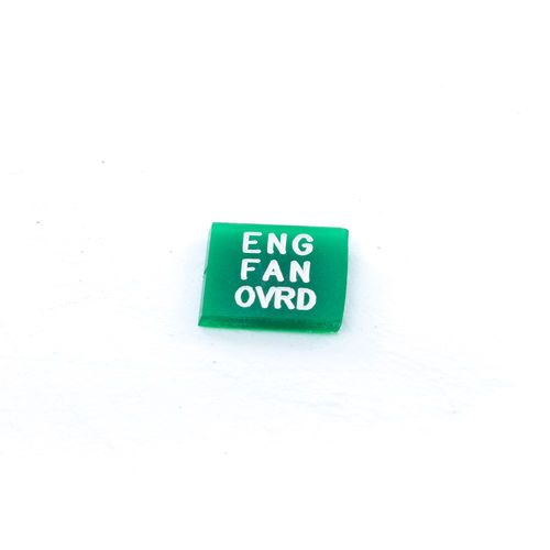 Oshkosh 2HB729 Green Lens For Rocker Switch - Engine Fan Override