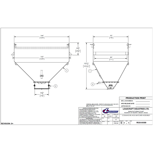 Johnson Ross Comanche Aggregate Batcher Weigh Scale Assembly