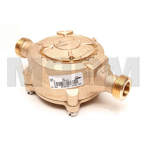 Badger Meter 255124 Recordall Model 25 Hot Water Bronze Disc Meter - 3/4 inch